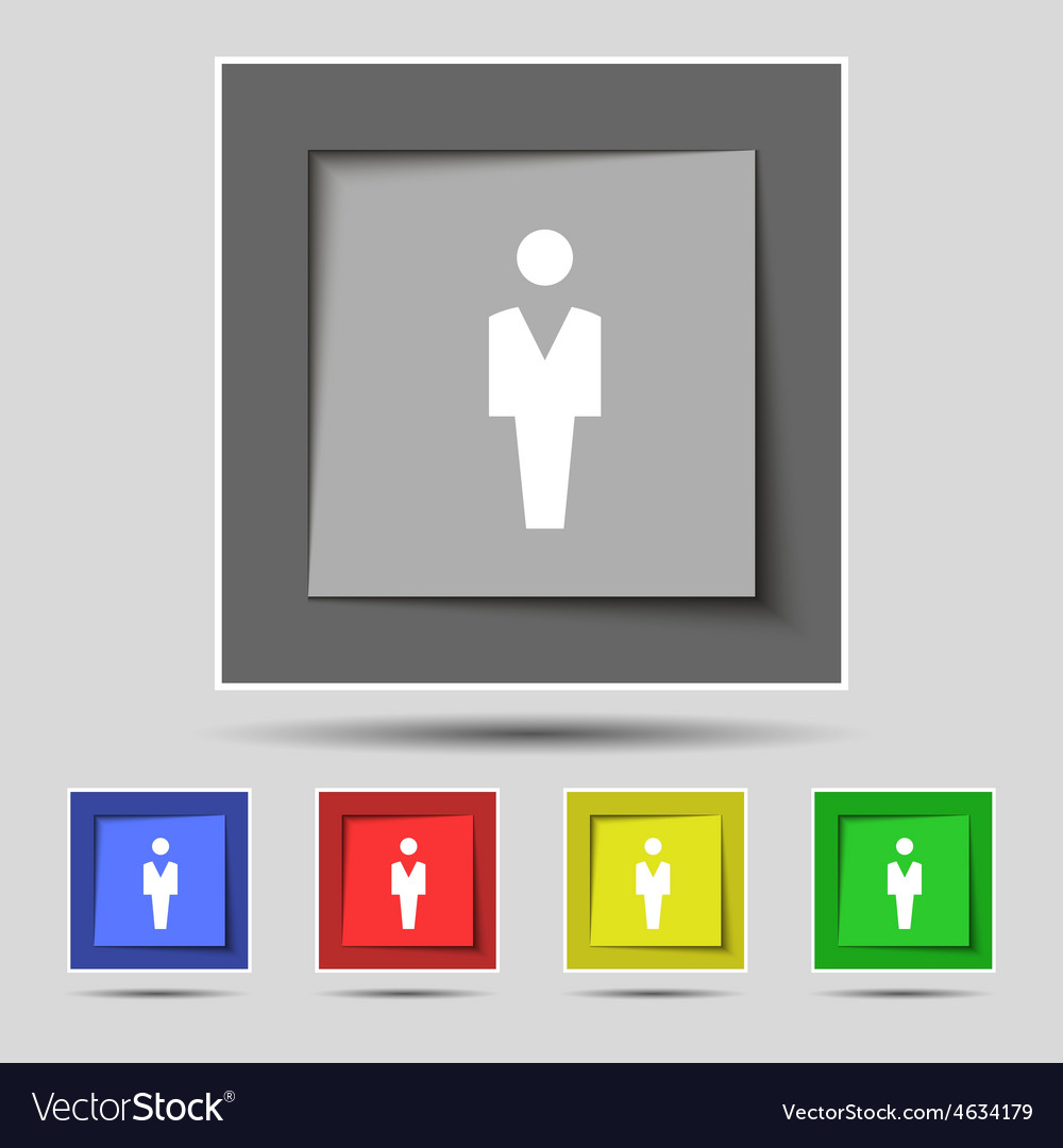 Human man person male toilet icon sign on the vector | Price: 1 Credit (USD $1)