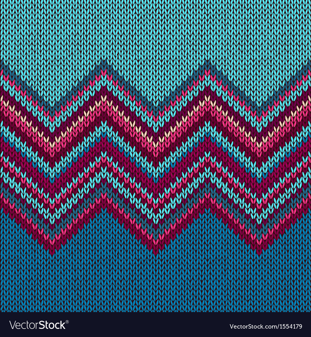 Knitted seamless fabric pattern beautiful red pink vector | Price: 1 Credit (USD $1)