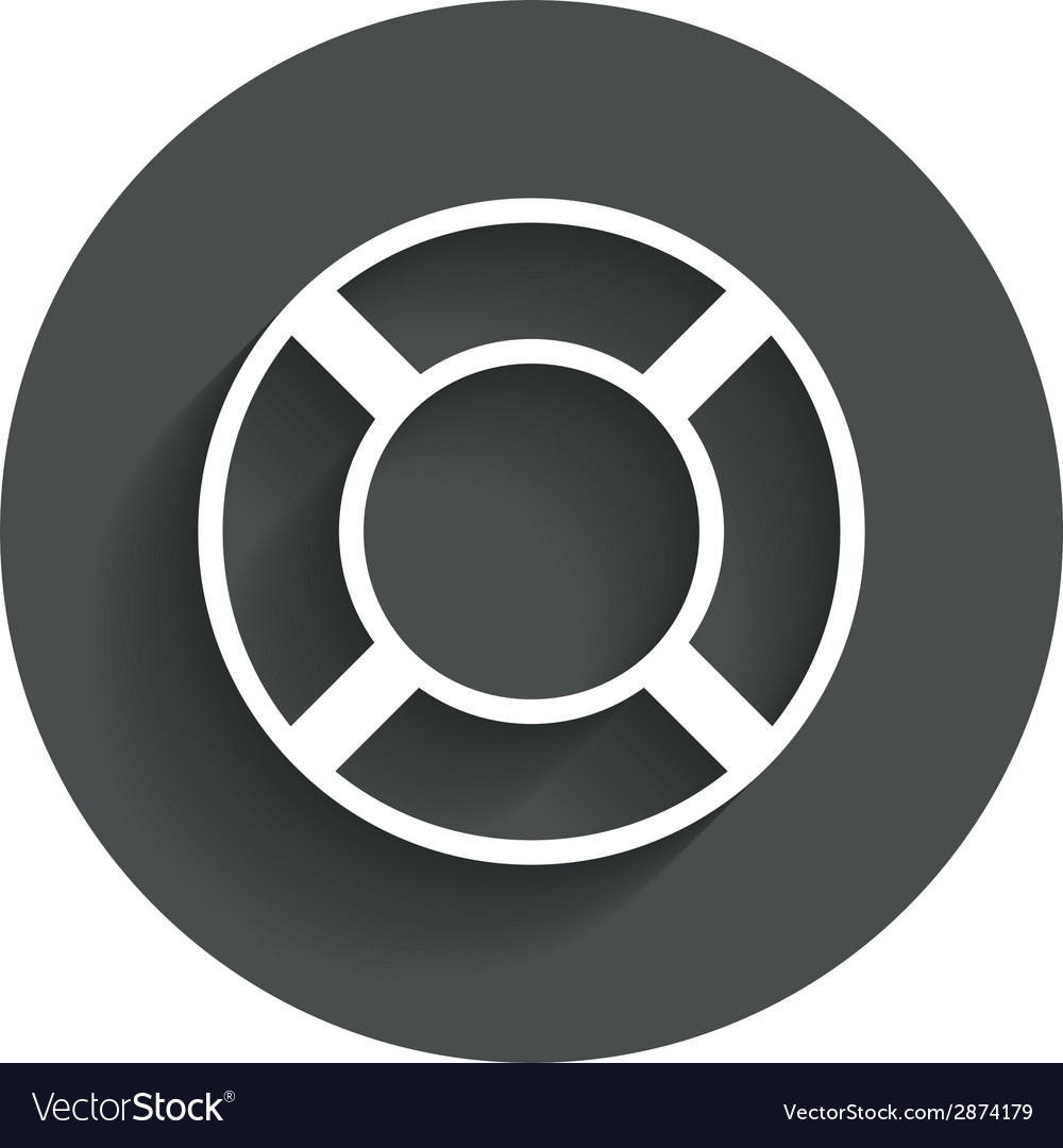Lifebuoy sign icon life salvation symbol vector | Price: 1 Credit (USD $1)