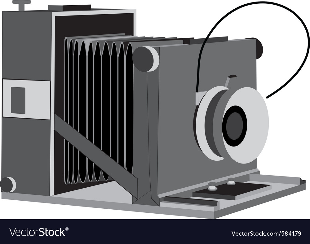 Old camera vector | Price: 1 Credit (USD $1)