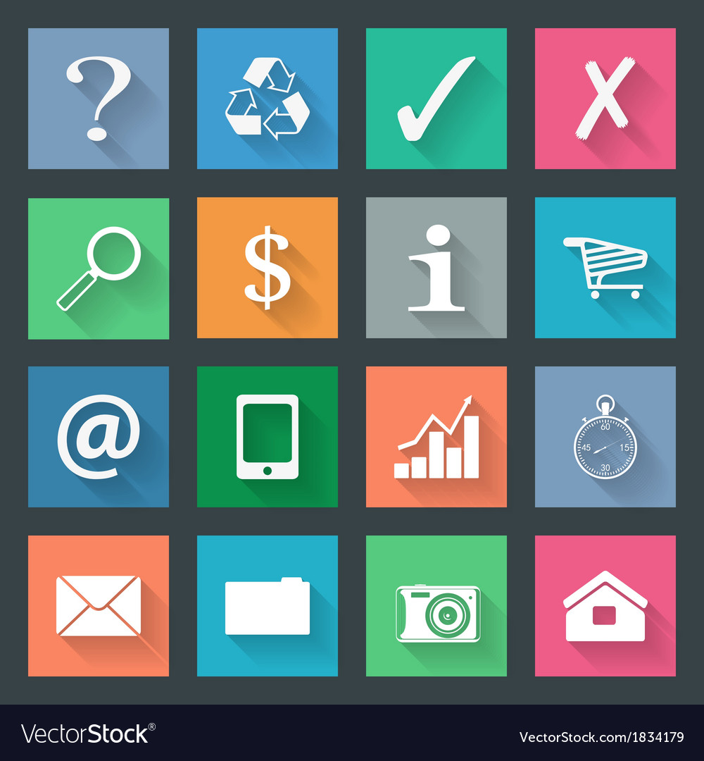 Popular icons set vector | Price: 1 Credit (USD $1)