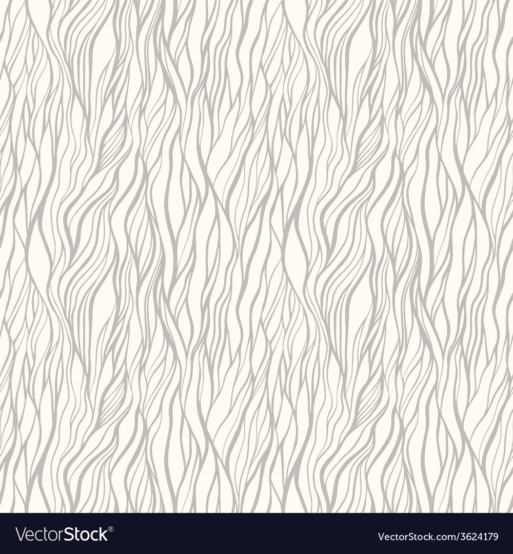 Seamless pattern with doodle waves ornament vector | Price: 1 Credit (USD $1)