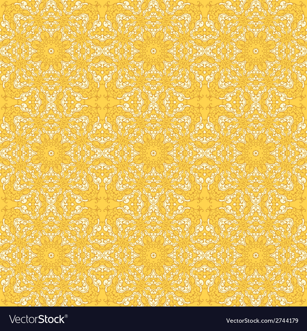 Seamless pattern with mosaic lace ornament vector   Price: 1 Credit (USD $1)