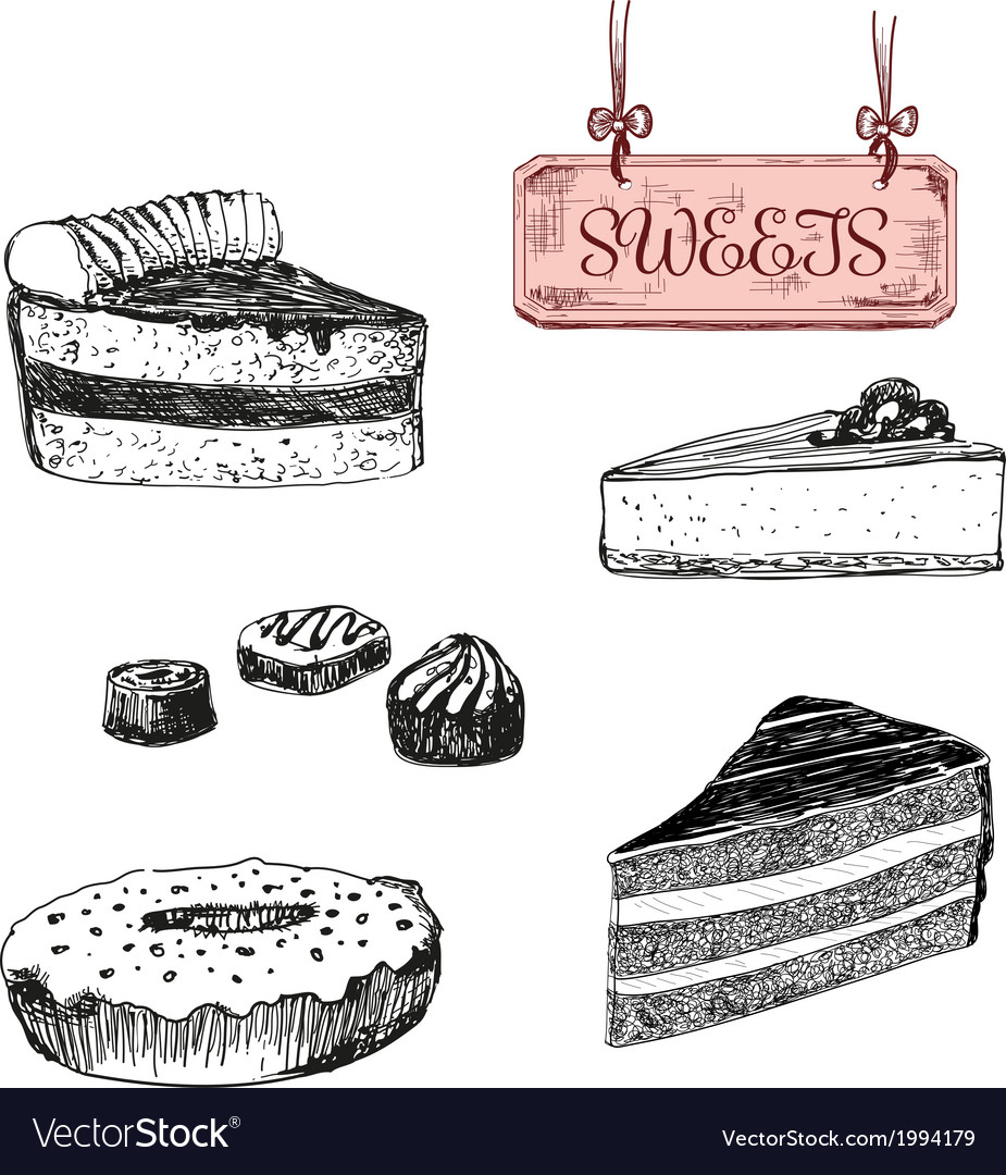 Sweets dessert vector | Price: 1 Credit (USD $1)