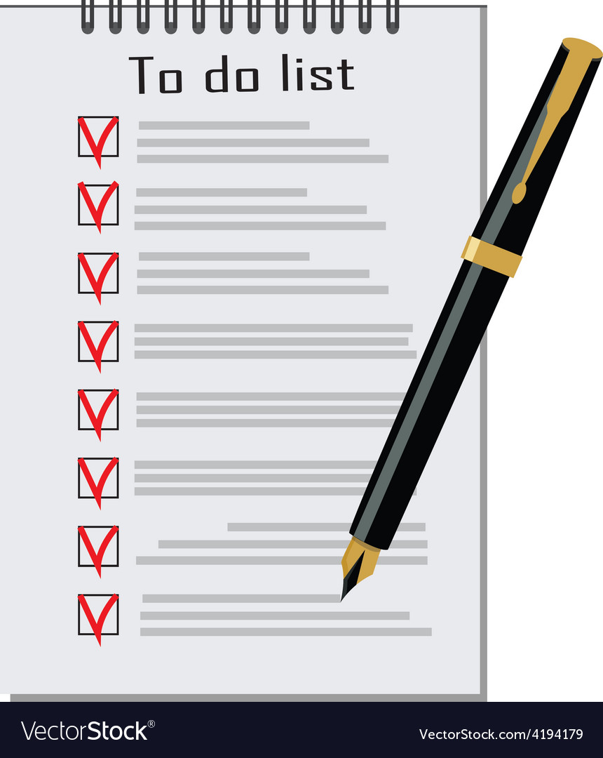 To do list with pen vector   Price: 1 Credit (USD $1)