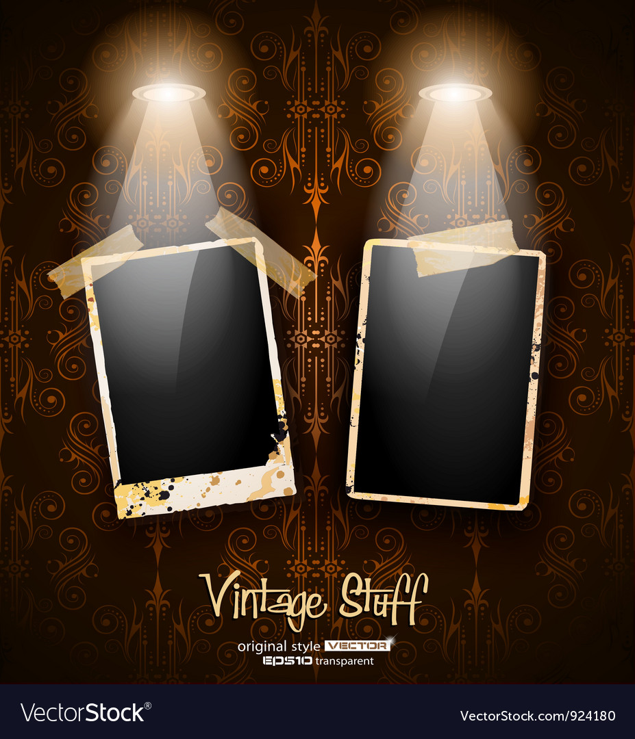 Antique distressed photoframes vector | Price: 3 Credit (USD $3)
