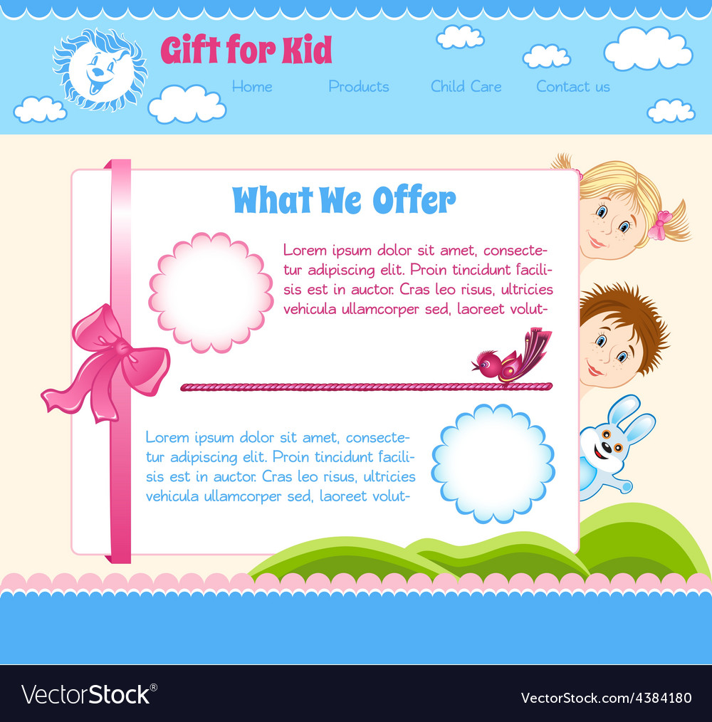 Baby cartoon background vector