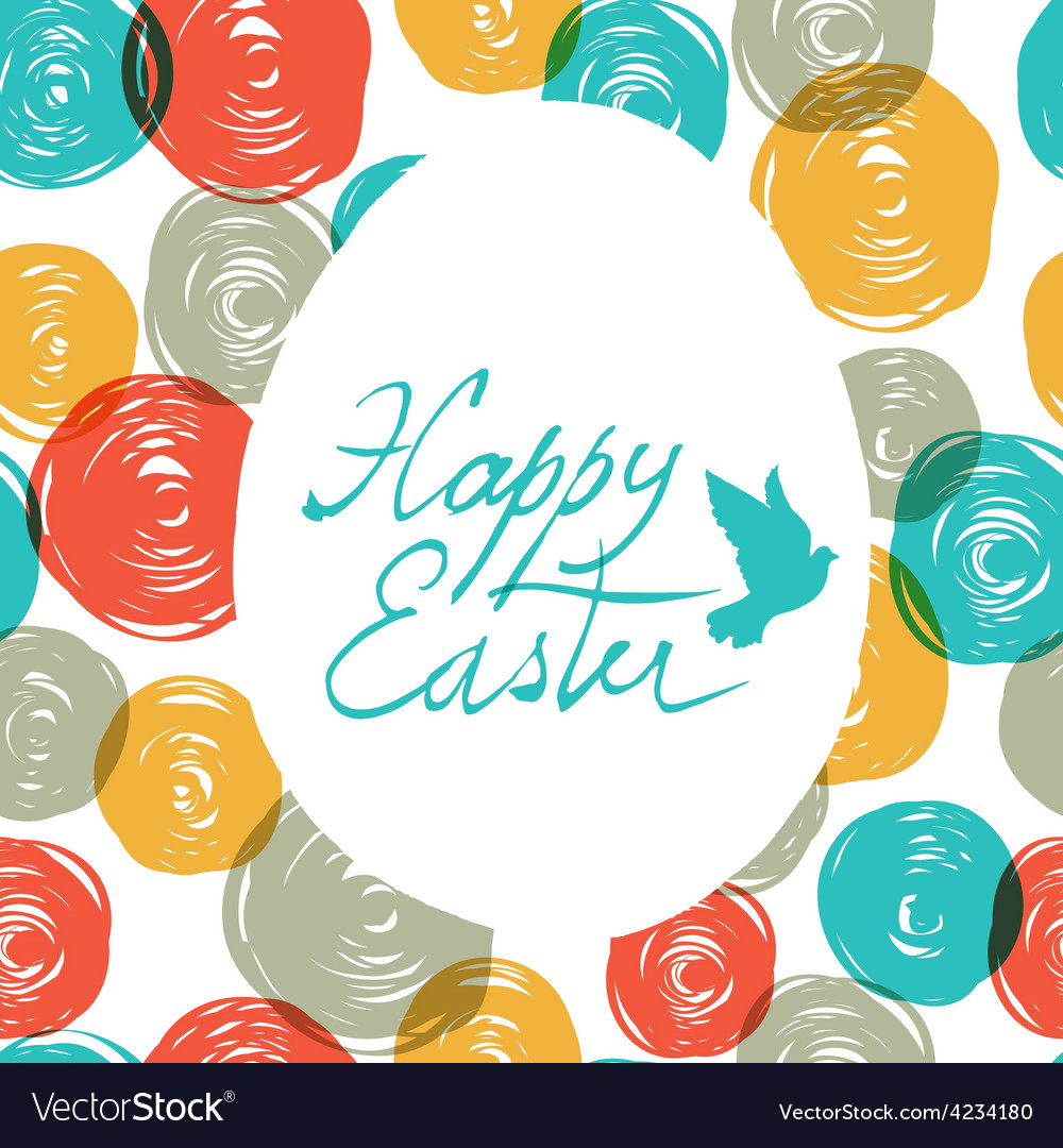 Easter colorful doodles vector | Price: 1 Credit (USD $1)