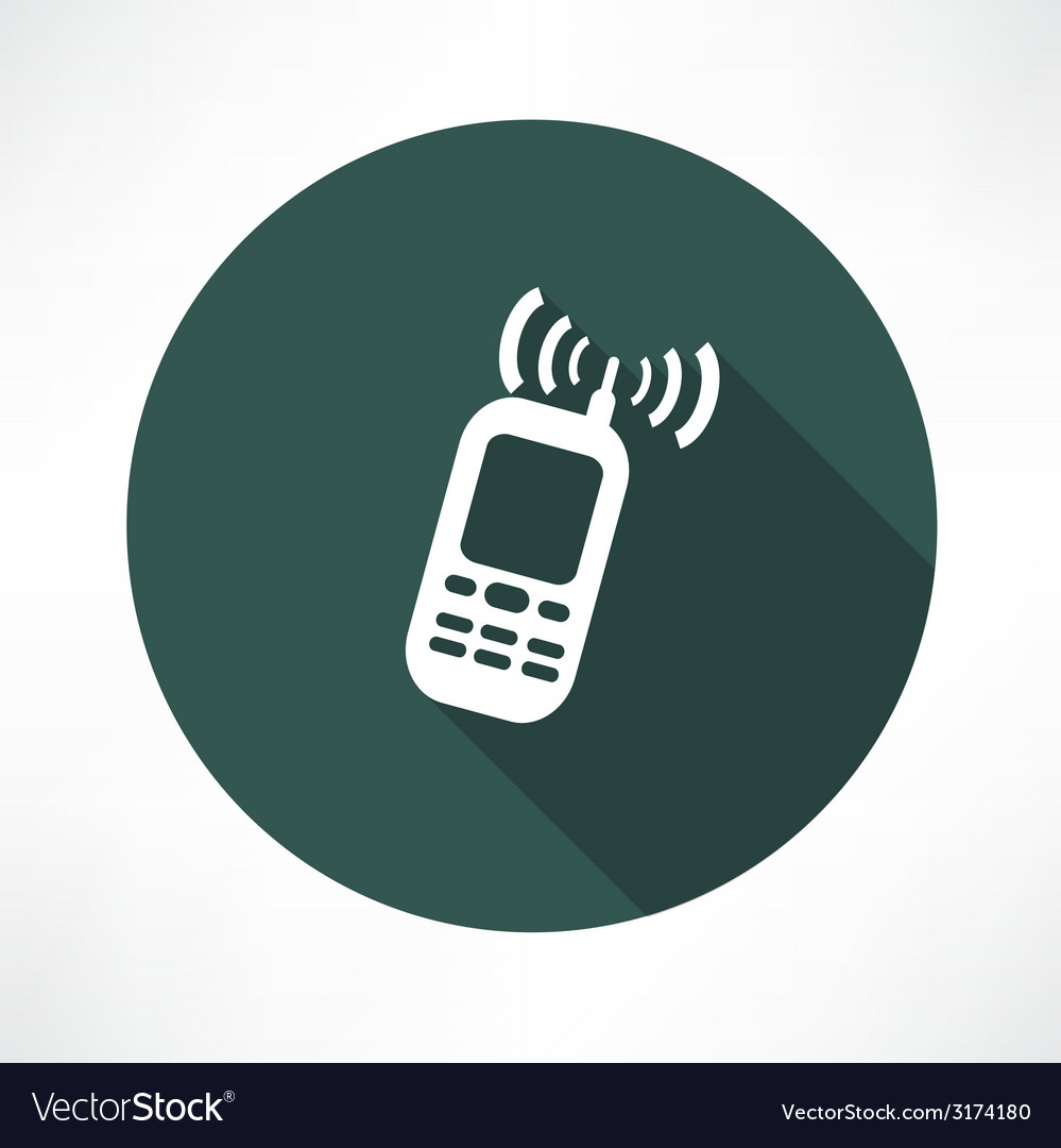 Mobile phone calling icon vector | Price: 1 Credit (USD $1)