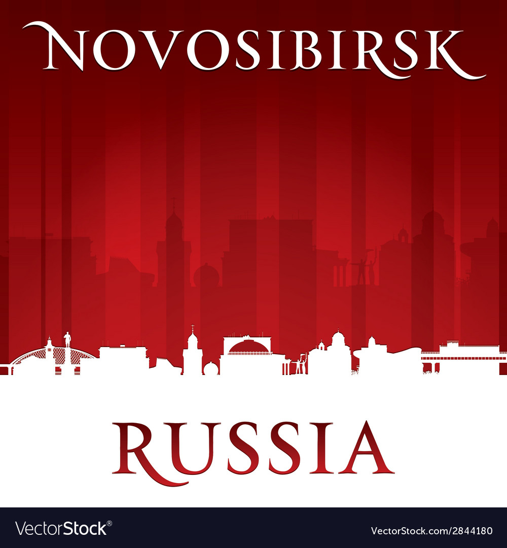 Novosibirsk russia city skyline silhouette vector | Price: 1 Credit (USD $1)