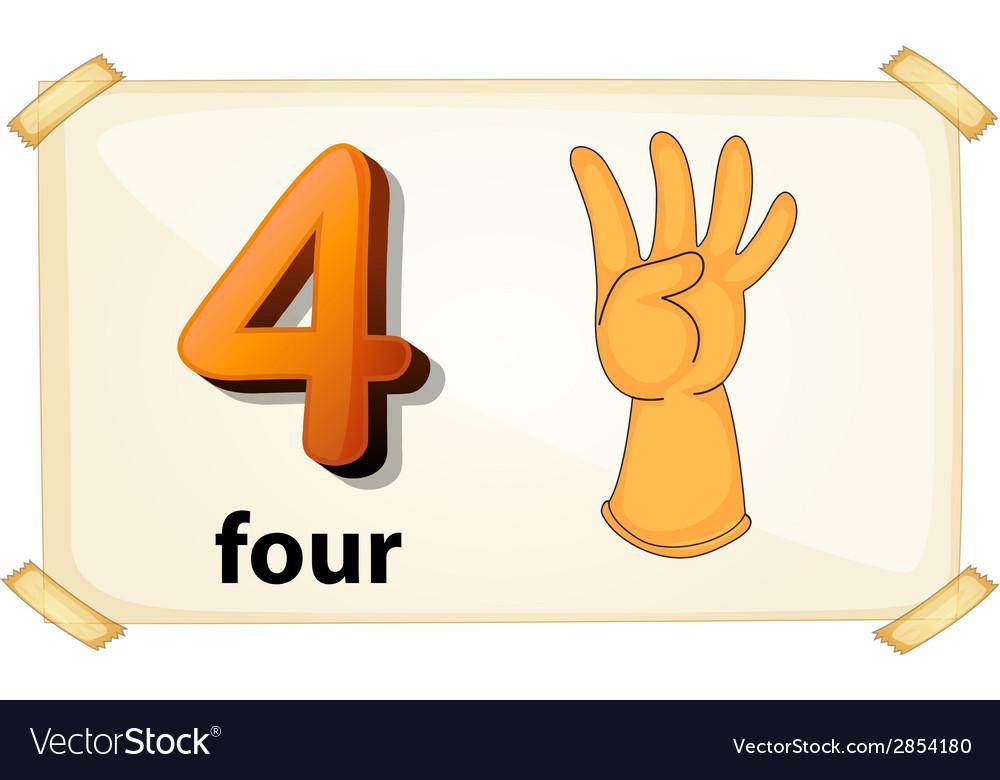 Number 4 vector | Price: 1 Credit (USD $1)
