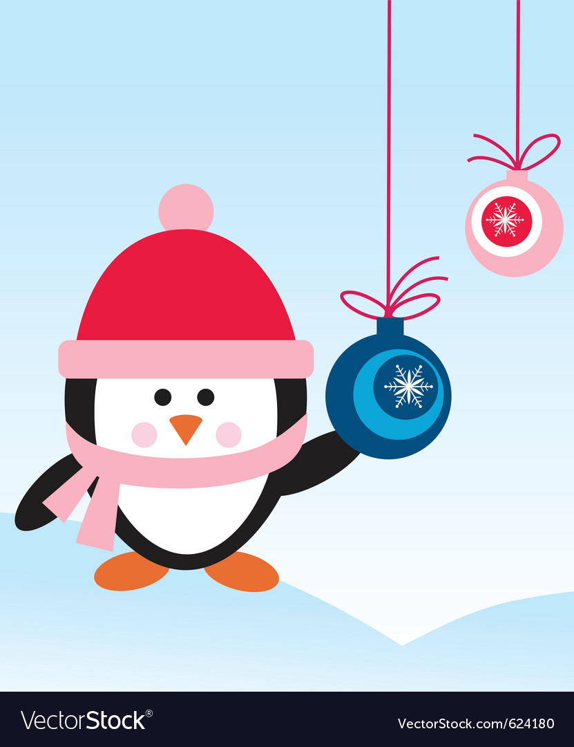 Penguin with hat vector | Price: 1 Credit (USD $1)