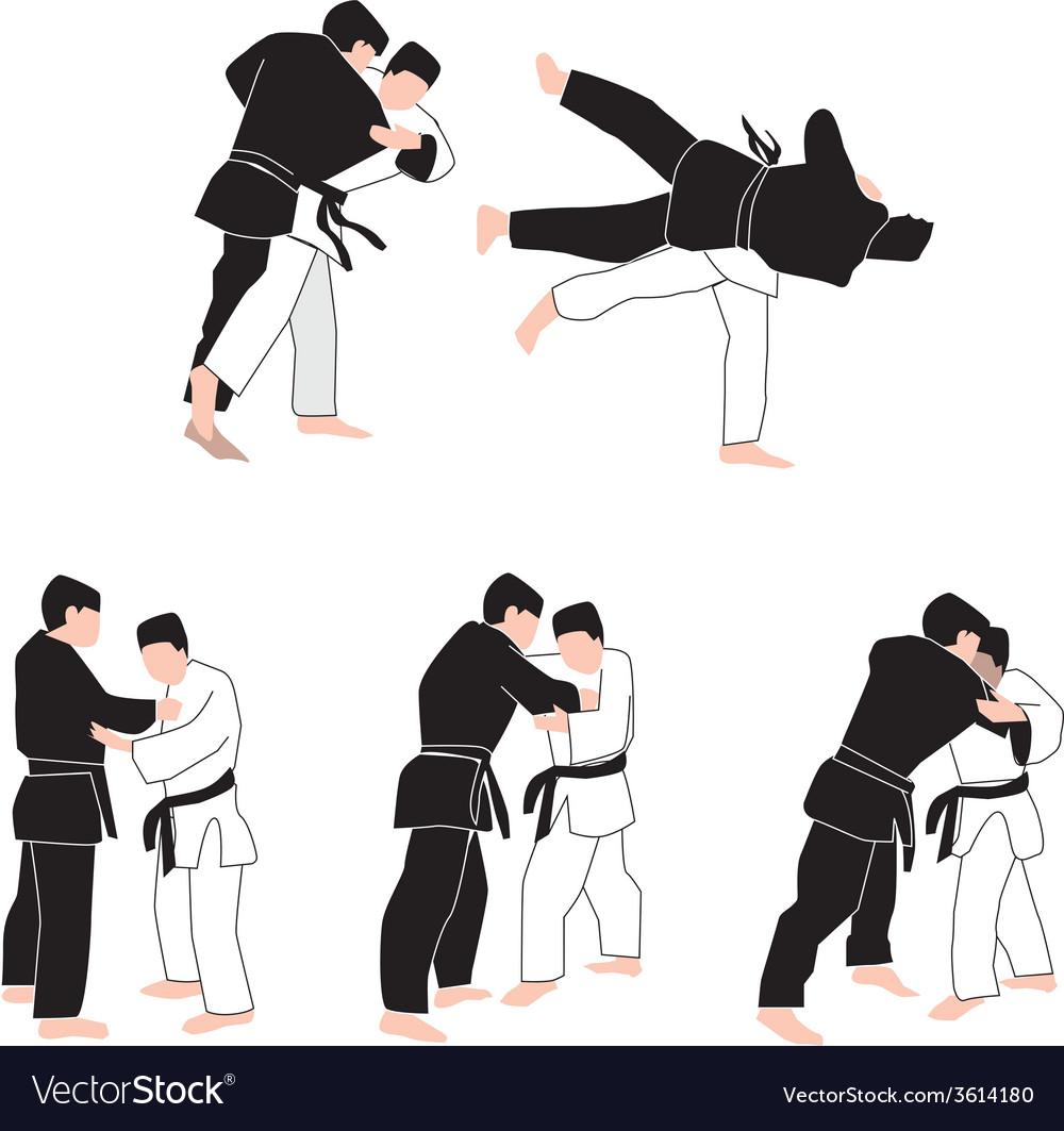 People judo vector | Price: 1 Credit (USD $1)