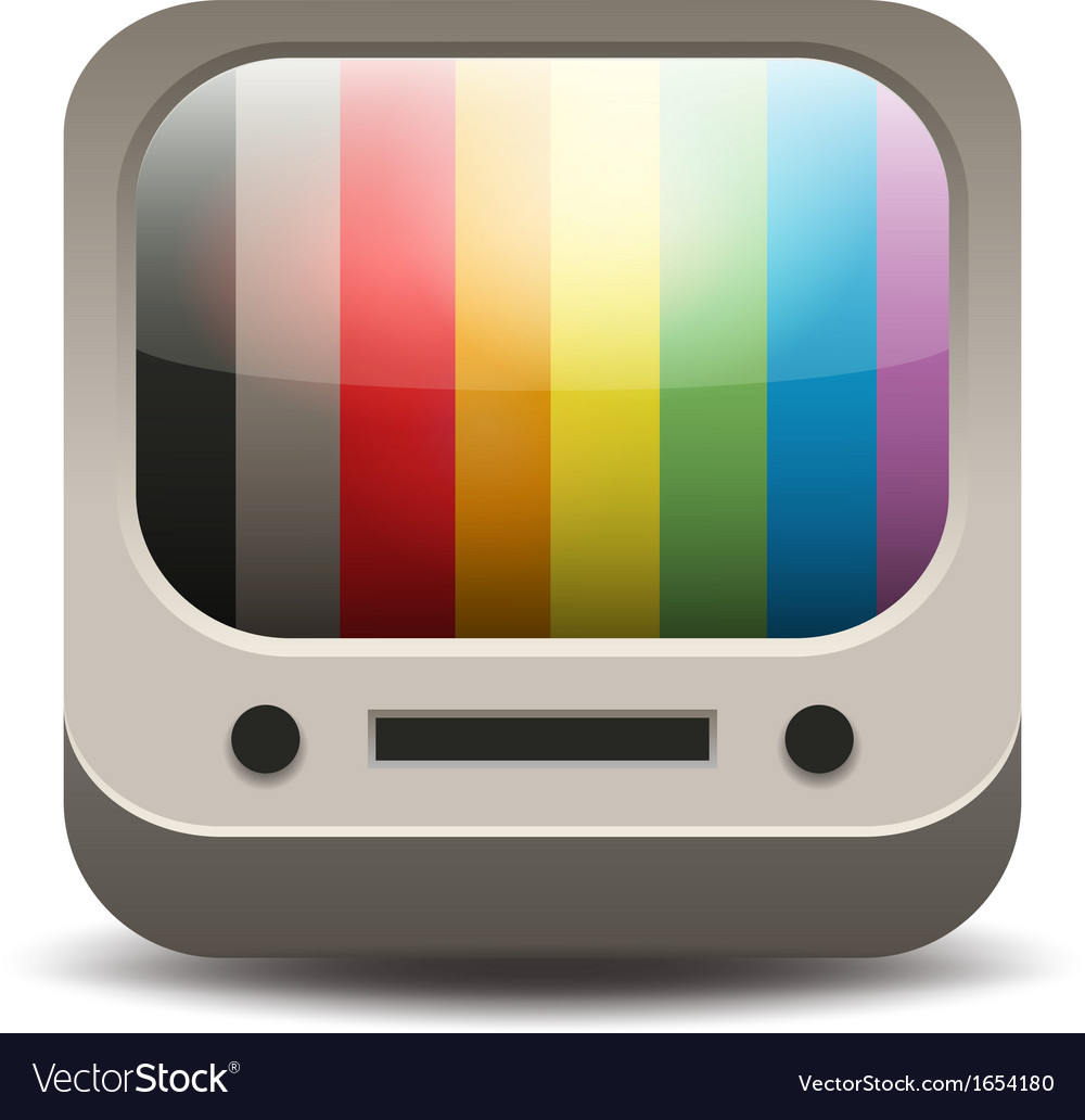 Rainbow colored tv set vector | Price: 1 Credit (USD $1)