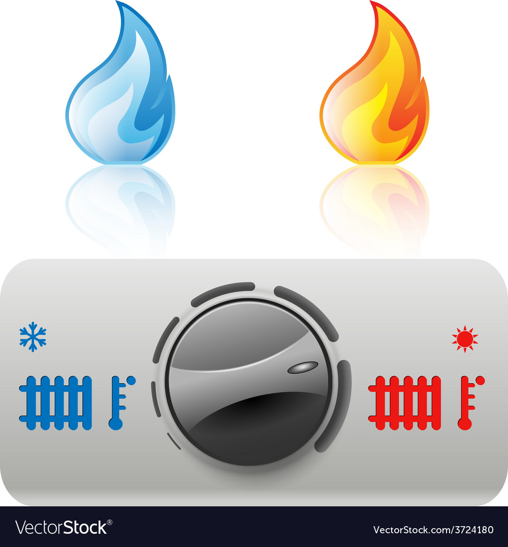 Regulator boiler icon vector
