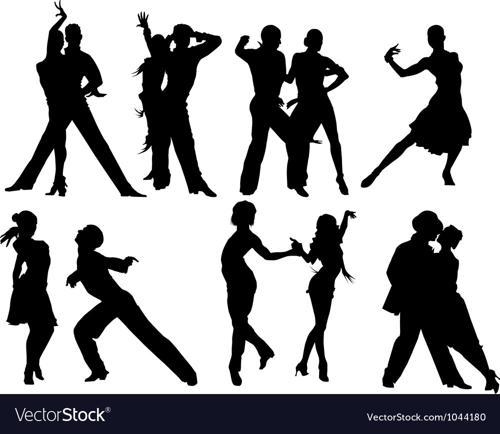 Salsa silhouettes vector | Price: 1 Credit (USD $1)