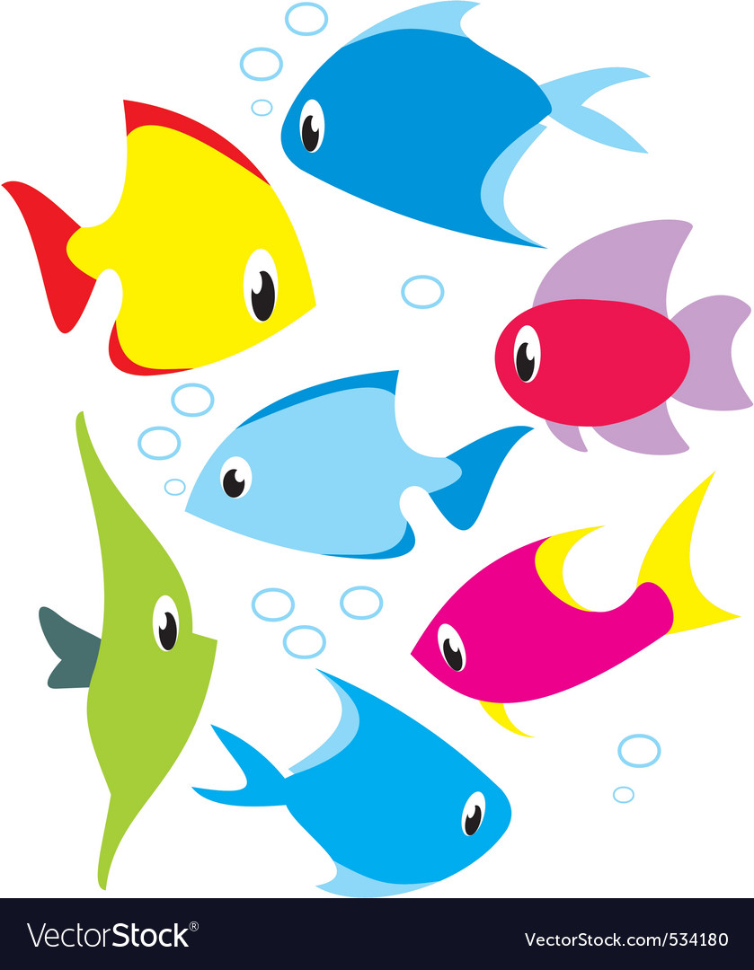 Set of reef fish vector | Price: 1 Credit (USD $1)