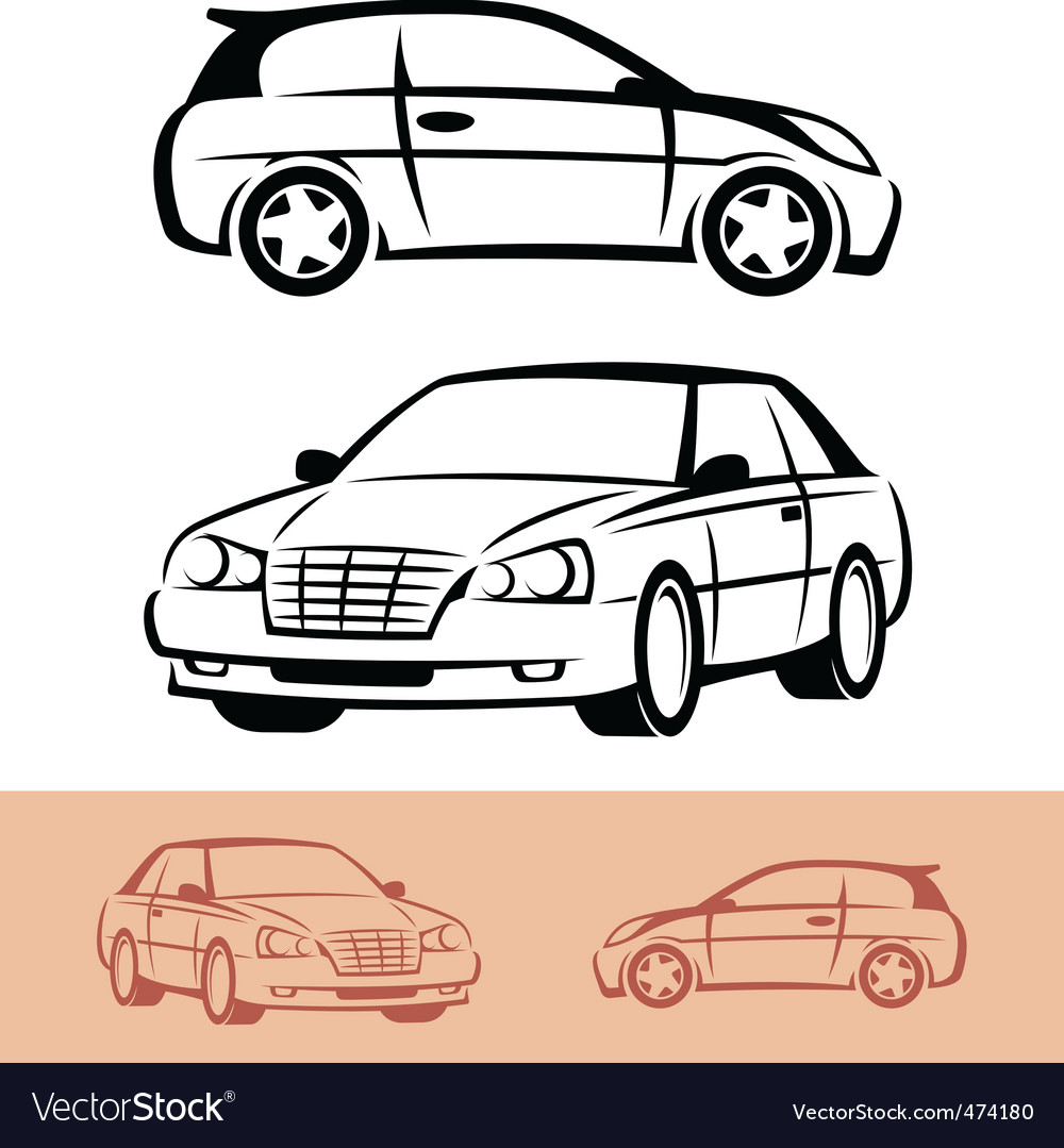 Styled car icons vector | Price: 1 Credit (USD $1)