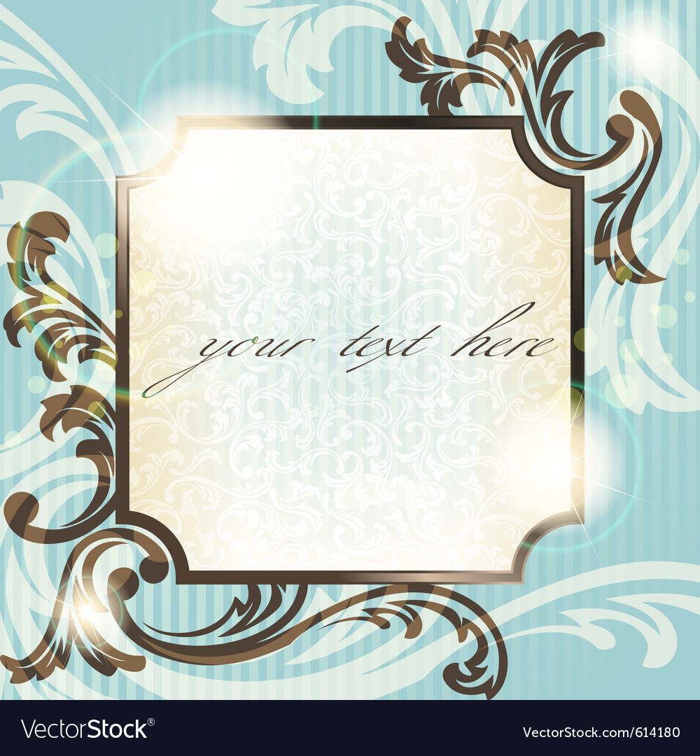 Vintage french retro frame vector | Price: 1 Credit (USD $1)