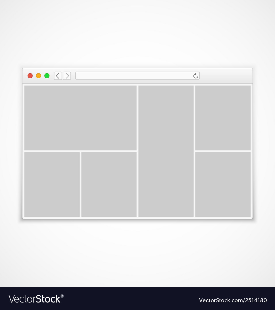 Web browser window on white background vector | Price: 1 Credit (USD $1)