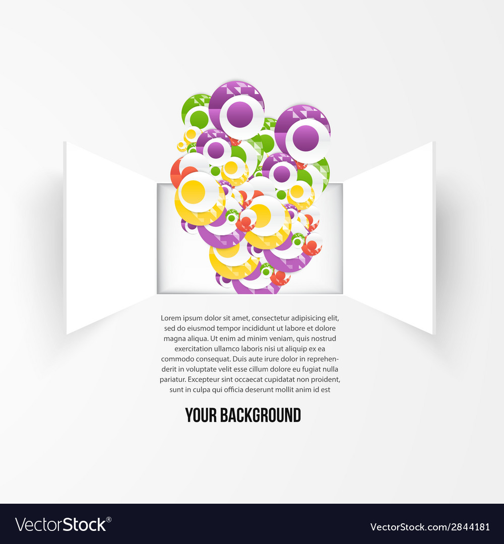 Background window and circle vector | Price: 1 Credit (USD $1)
