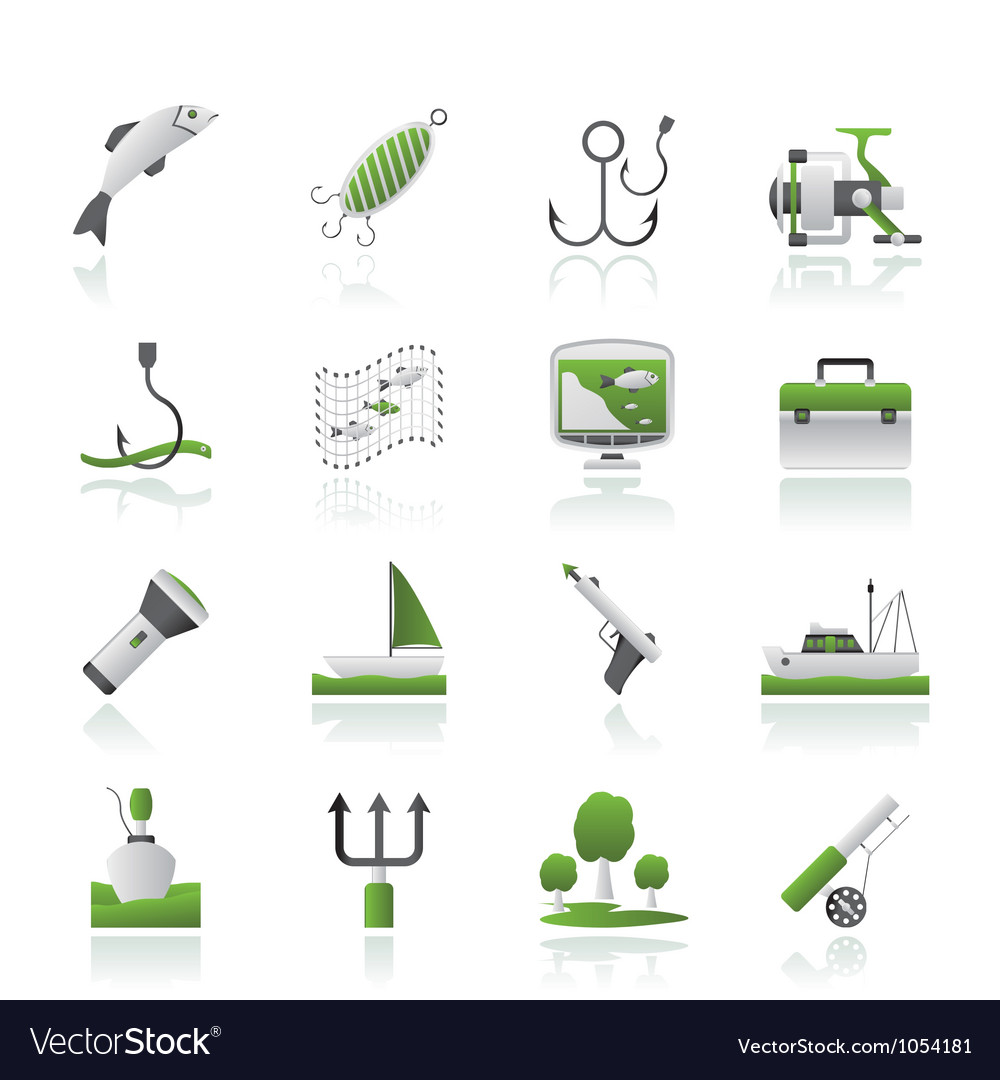 Fishing industry icons vector | Price: 1 Credit (USD $1)
