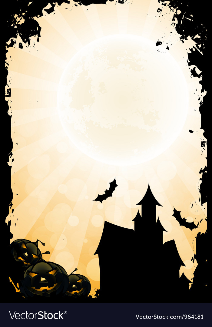 Grungy halloween background vector   Price: 1 Credit (USD $1)