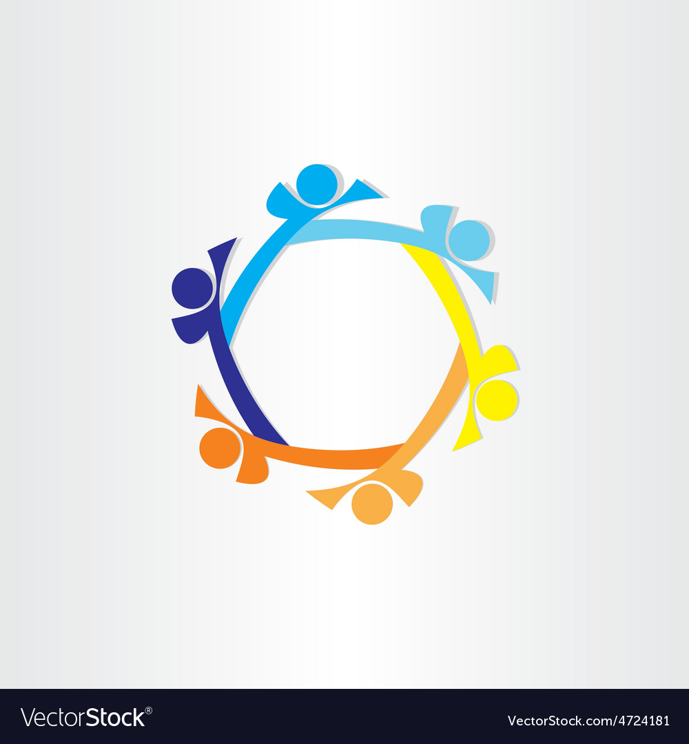 People in circle abstract icon design vector | Price: 1 Credit (USD $1)