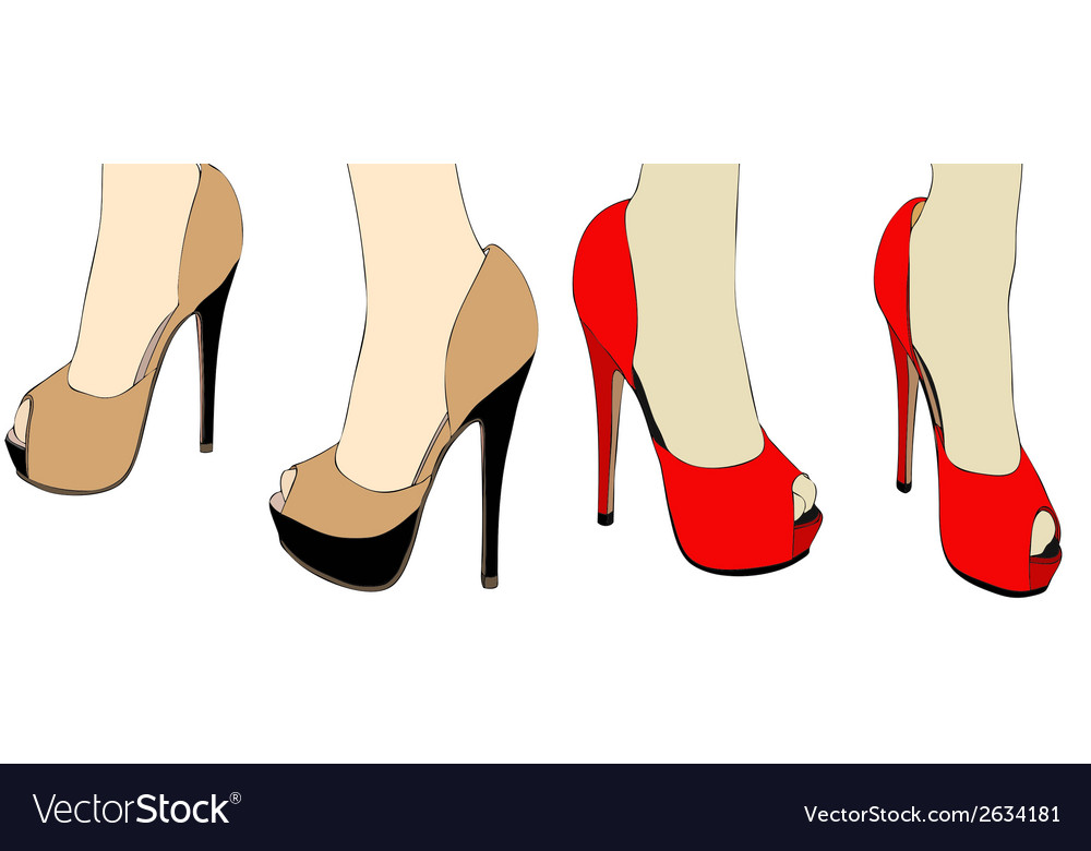 Shoes on the catwalk vector | Price: 1 Credit (USD $1)
