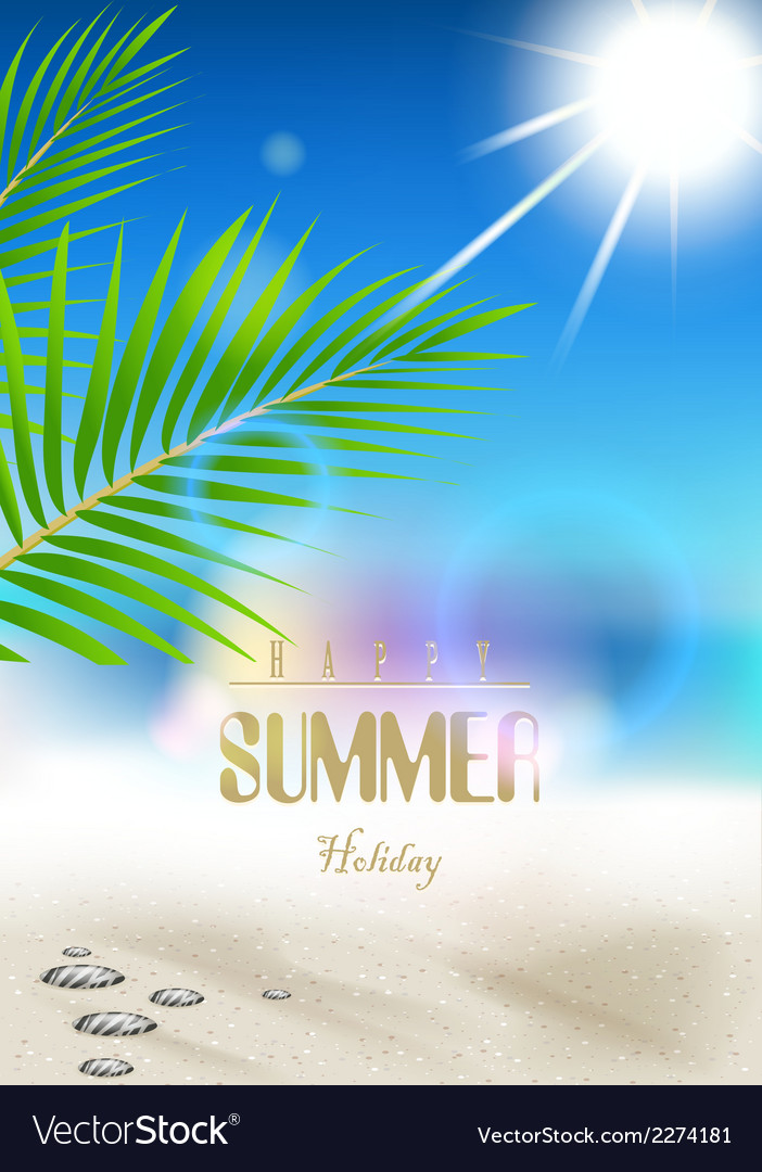 Summer holidays background vector | Price: 1 Credit (USD $1)