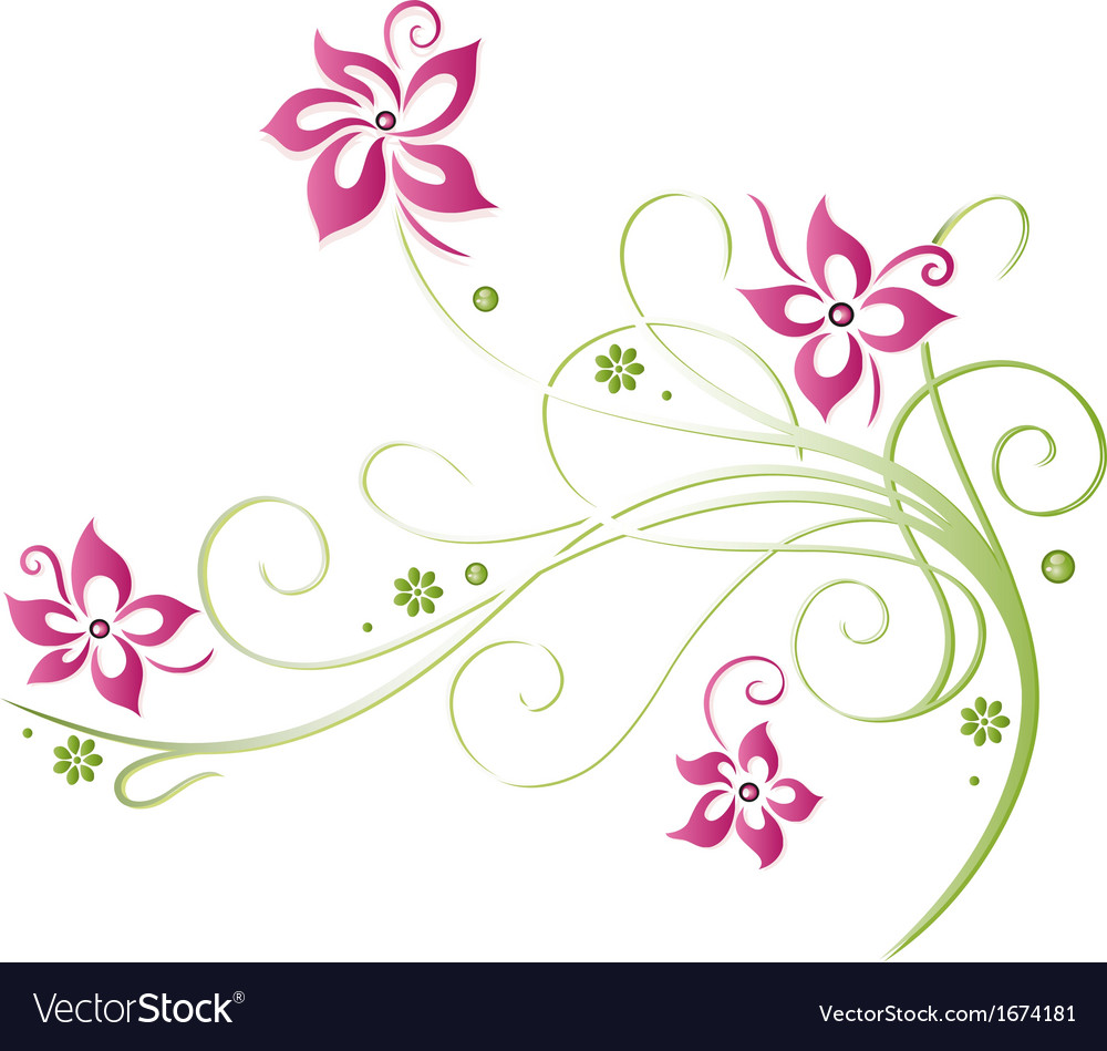 Summer time flowers vector | Price: 1 Credit (USD $1)