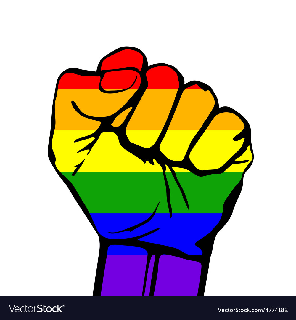 Card lgbt support phrase fight for gay rights vector