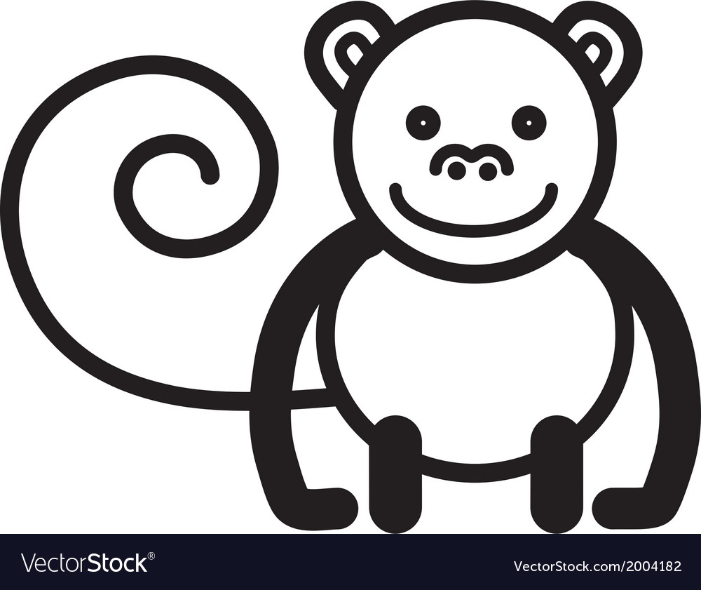 Cute animal monkey - vector | Price: 1 Credit (USD $1)