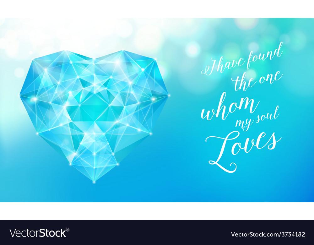 Diamond heart for your design vector