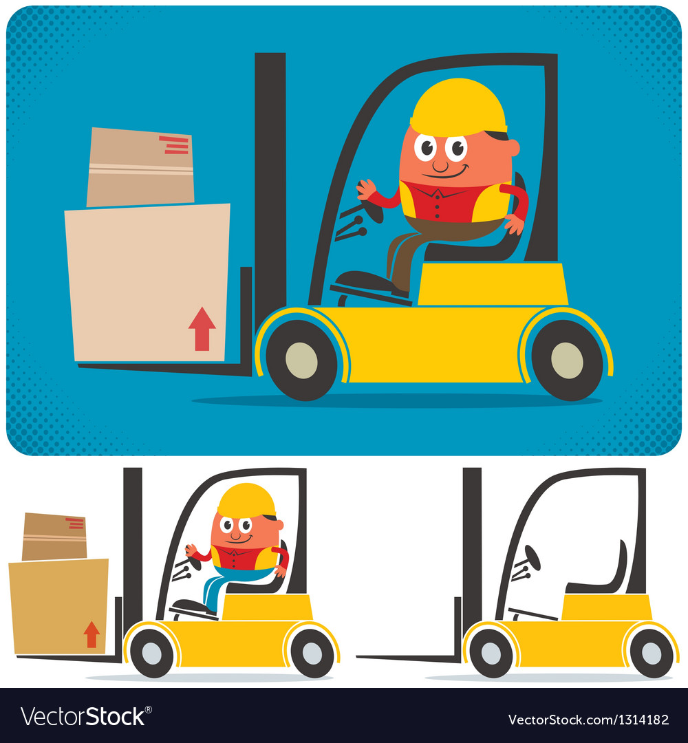 Forklift driver vector | Price: 3 Credit (USD $3)