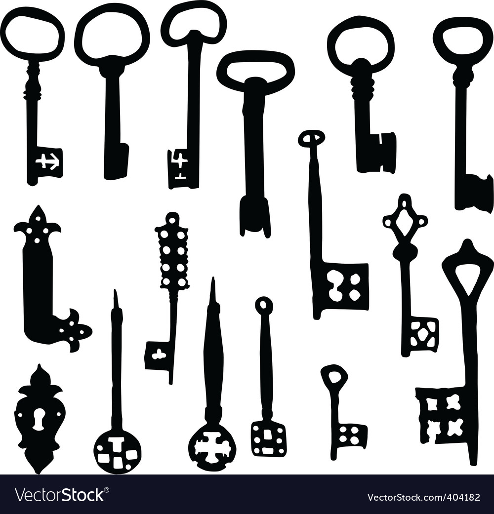 Old keys vector | Price: 1 Credit (USD $1)