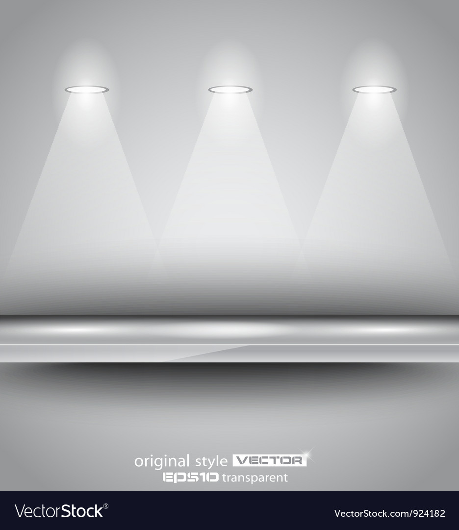 Shelf with spotlights vector | Price: 1 Credit (USD $1)