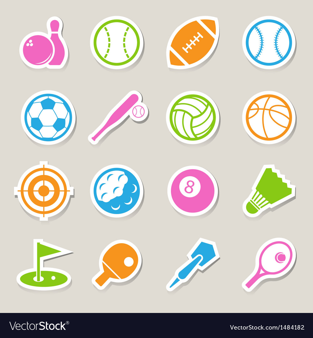 Sports icons set eps10 vector | Price: 1 Credit (USD $1)