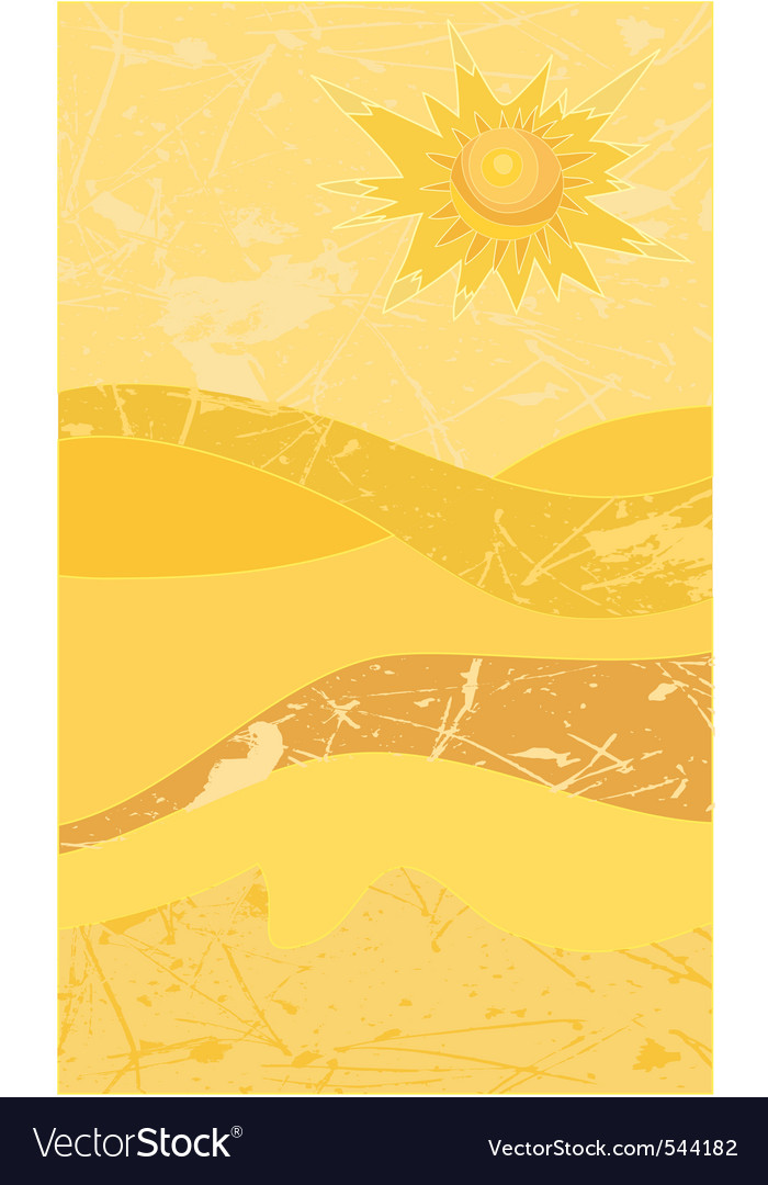Sunny desert grunge vector | Price: 1 Credit (USD $1)