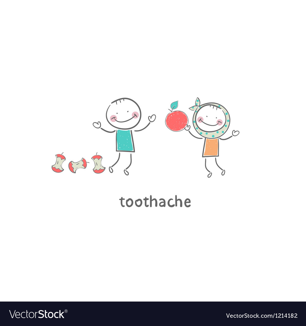 Toothache vector | Price: 1 Credit (USD $1)