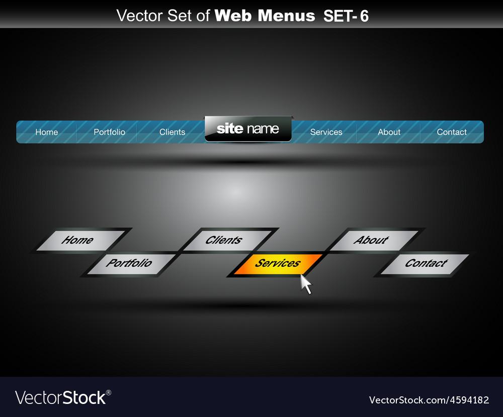 Web menu vector | Price: 1 Credit (USD $1)