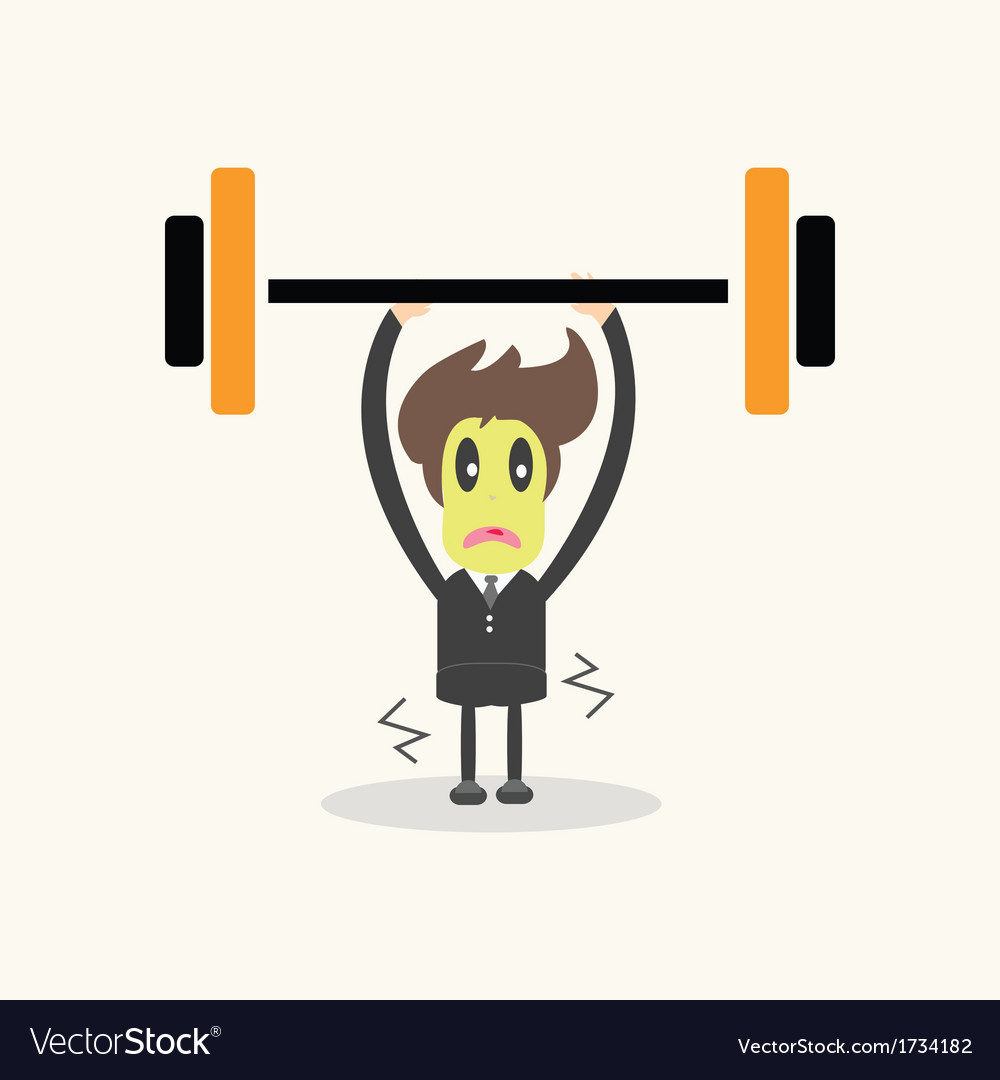Weightlifter business man vector | Price: 1 Credit (USD $1)