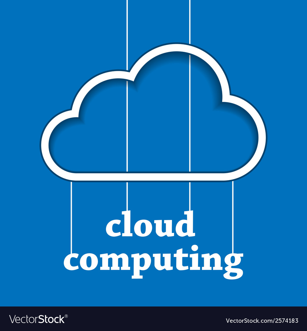 Cloud computing template vector | Price: 1 Credit (USD $1)