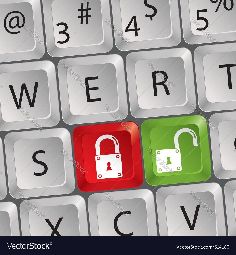 Computer keyboard lock key vector | Price: 1 Credit (USD $1)