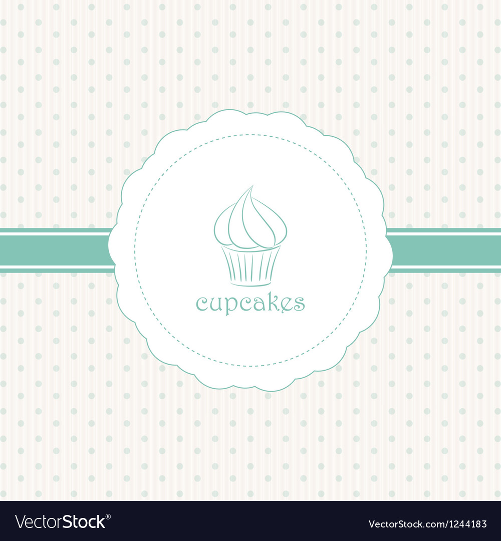 Cupcake label blue vector | Price: 1 Credit (USD $1)