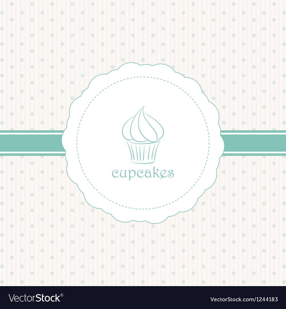 Cupcake label blue vector | Price: 1 Credit (USD $1)