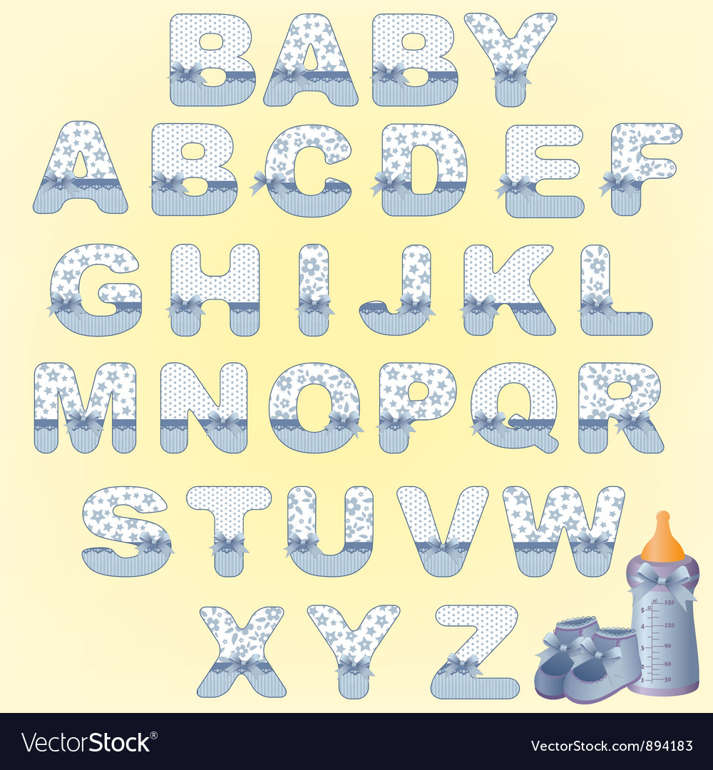 Cute baby alphabet vector | Price: 1 Credit (USD $1)