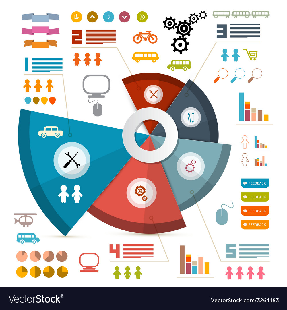 Infographics layout with icons - elements vector | Price: 1 Credit (USD $1)