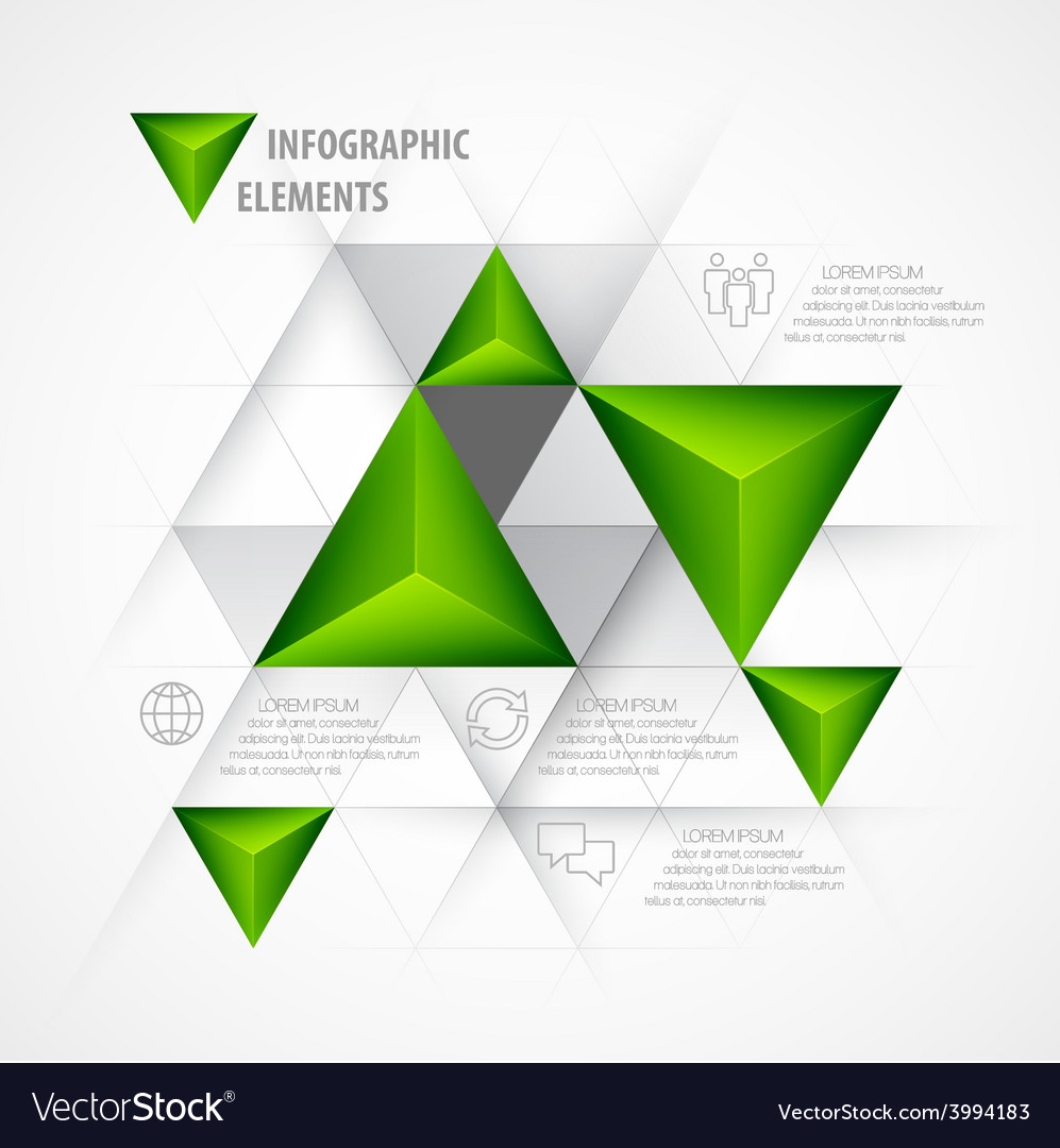 Infographics with a 3d arrow vector | Price: 1 Credit (USD $1)