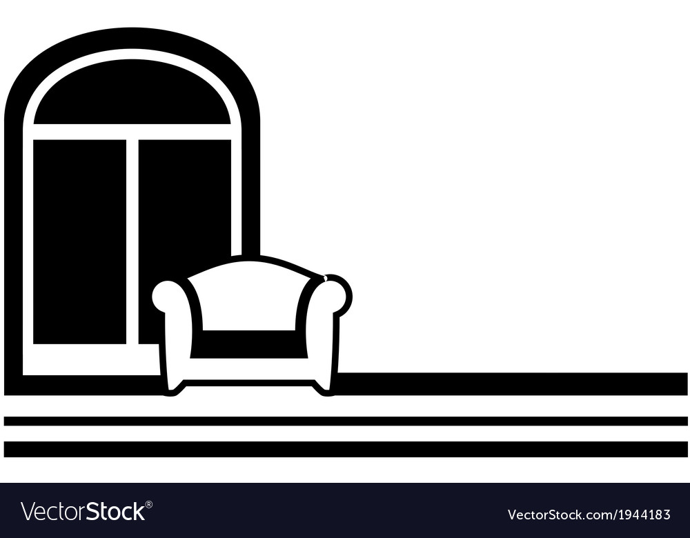 Interior symbol - window and armchair vector | Price: 1 Credit (USD $1)